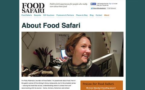 Screenshot of About Page foodsafari.co.uk - About Food Safari | Food Safari - captured Sept. 30, 2014