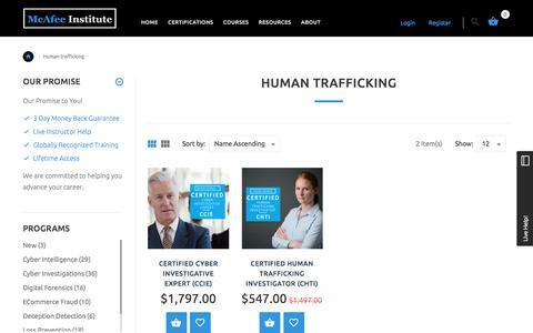 Human Trafficking | McAfee Institute