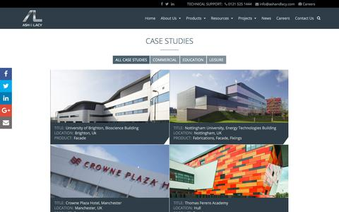 Screenshot of Case Studies Page ashandlacy.com - Case Studies Archive - Ash and Lacy Construction - captured Oct. 8, 2017