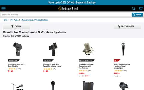Microphones & Wireless Systems | Musician's Friend