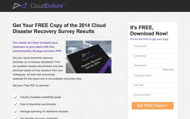 Cloud Disaster Recovery Survey 2014 | Cloud Endure