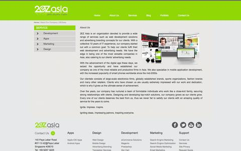 Screenshot of About Page 2ezasia.com - About Our Company | 2EZasia - captured Feb. 16, 2016