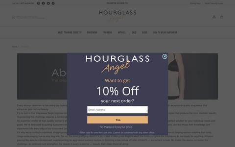 Screenshot of About Page hourglassangel.com - Women's & Men's Shapewear, Body Shapewear - Hourglass Angel - captured Oct. 11, 2018