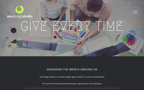 Screenshot of About Page zendesignstudio.com - About Us – Zen Design Studio - captured Nov. 12, 2017