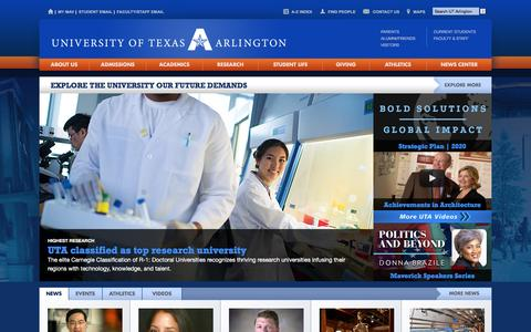 The University of Texas at Arlington - UT Arlington - UTA