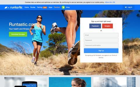 Screenshot of Home Page runtastic.com - Runtastic: Running, Cycling & Fitness GPS Tracker - captured Dec. 2, 2015