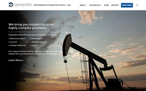 Screenshot of Home Page ospreydata.com - Technology | OspreyData - captured Aug. 16, 2015