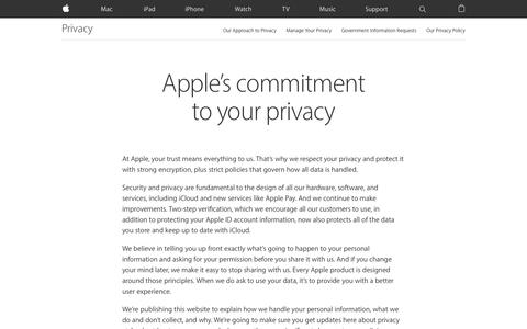 Privacy - Apple
