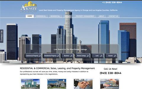Screenshot of Home Page sultanre.com - Aksoy Realty - captured Oct. 3, 2014