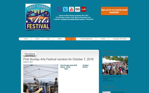 Screenshot of Blog firstsundayarts.com - Blog | United States | First Sunday Arts Festival - captured Oct. 10, 2018