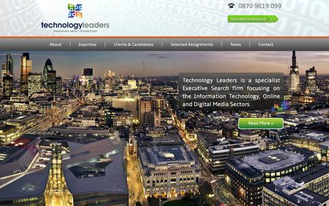 Screenshot of Home Page technology-leaders.com - Technology Leaders   Passionate About Technology - captured Oct. 6, 2014