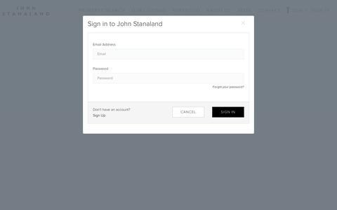 Screenshot of Login Page johnstanaland.com - John Stanaland - captured Oct. 21, 2018