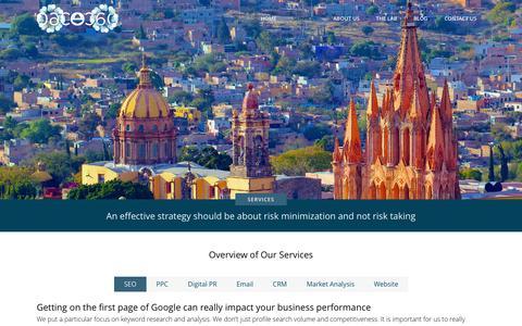 Screenshot of Services Page element-360.com - Asheville Online Marketing | Real Estate Internet Marketing - captured Sept. 29, 2014