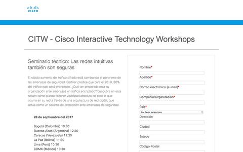 Screenshot of Landing Page cisco.com - Cisco - captured April 9, 2018