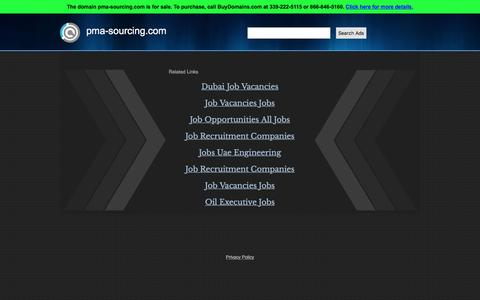 Screenshot of Home Page pma-sourcing.com - pma-sourcing.com Is For Sale - captured Feb. 26, 2016