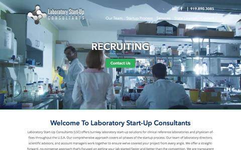 Screenshot of Home Page laboratorystartupconsultants.com - Laboratory Start-Up Consultants | Turnkey Solutions | USA - captured Jan. 15, 2017