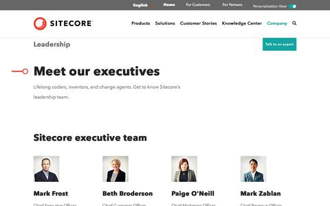 Screenshot of Team Page sitecore.com - Sitecore Leadership Team |Sitecore - captured July 14, 2019