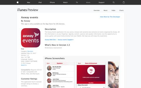 Axway events on the App Store