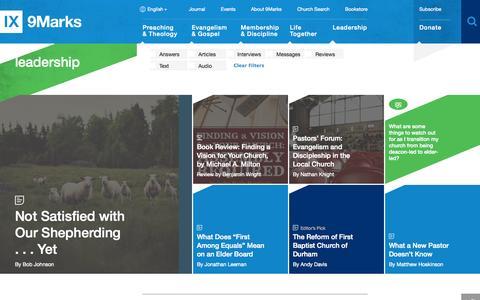 Screenshot of Team Page 9marks.org - Leadership : 9Marks - captured Oct. 29, 2014
