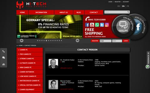 Screenshot of Team Page hitech-gamer.com - Contact Person | Gaming PCs | HI-TECH Computer - captured Oct. 19, 2018