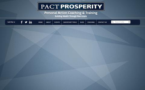 Screenshot of Team Page pactprosperity.com - PACT Prosperity - captured Sept. 26, 2014
