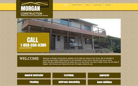 Screenshot of Home Page morganconstruction.org - Morgan Construction, General Contractor & Remodeling - captured Sept. 30, 2014