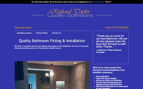 Screenshot of Home Page rtqualitybathrooms.co.uk - Professional Bathroom Fitter and Installer Richard Taylor - captured Nov. 16, 2018