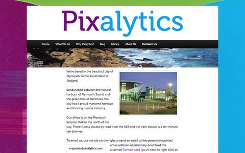 Screenshot of Contact Page pixalytics.com - Contact Us | Pixalytics Ltd - captured Aug. 2, 2017