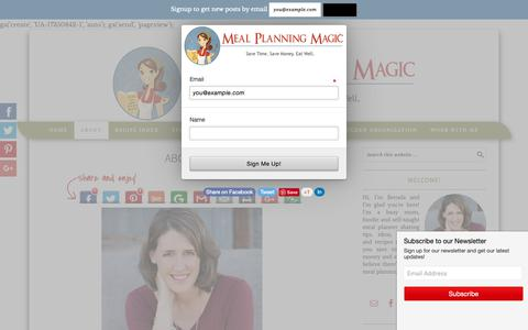 Screenshot of About Page mealplanningmagic.com - About - Meal Planning Magic - captured Oct. 4, 2018