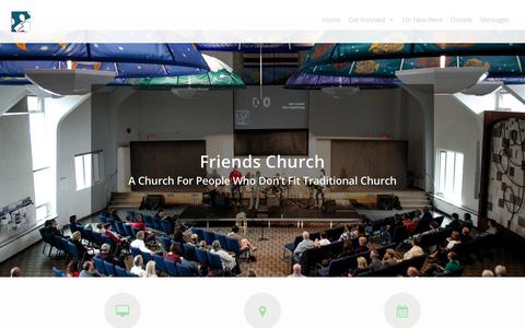 Screenshot of Home Page friendschurch.ca - Friends Church - a Calgary church for people that don't fit church - captured Aug. 23, 2018