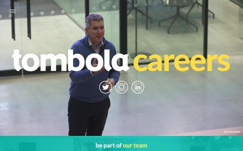 Screenshot of Jobs Page tombola.com - tombola careers - captured May 29, 2019