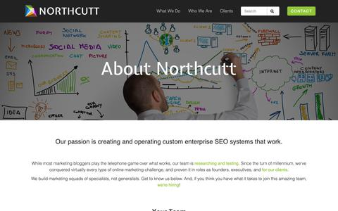 Screenshot of About Page northcutt.com - About | Northcutt: Cloud & E-Commerce SEO - captured Nov. 11, 2018