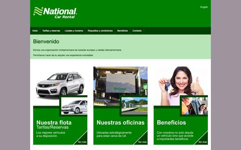 Screenshot of Home Page national.com.py - National Car Rental Paraguay - captured Oct. 18, 2015