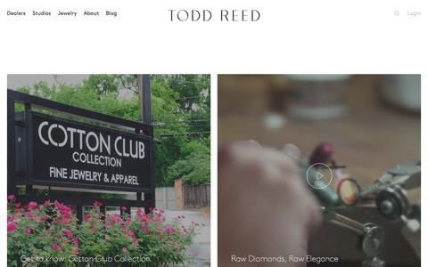 Screenshot of Home Page toddreed.com - Todd Reed – Raw Elegance - captured Feb. 9, 2016