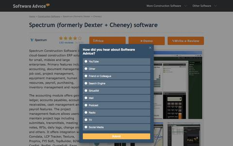 Spectrum (formerly Dexter + Cheney) Software - 2018 Reviews, Pricing & Demo