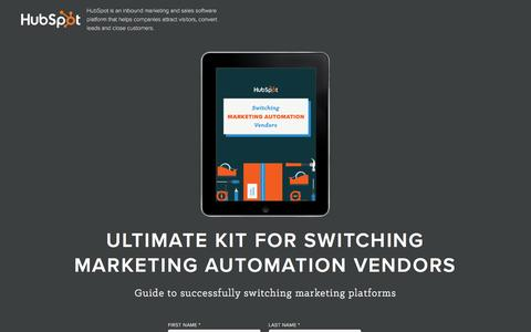 Screenshot of Landing Page hubspot.com - Switching Marketing Automation Vendors - captured June 2, 2016