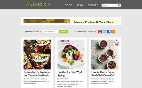 Screenshot of Blog tastebook.com - Tastebook Blog - captured Feb. 3, 2016