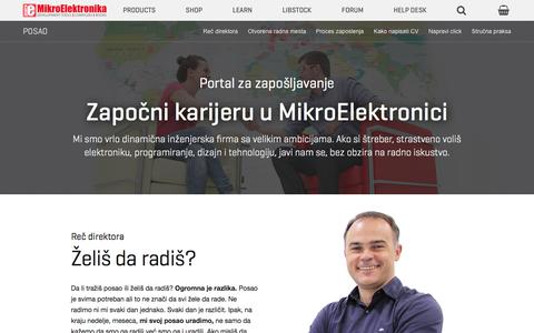Screenshot of Jobs Page mikroe.com - Posao - MikroElektronika - captured July 20, 2017
