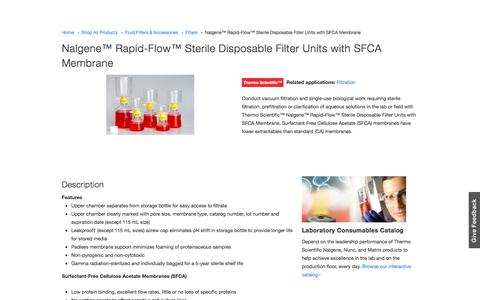 Nalgene™ Rapid-Flow™ Sterile Disposable Filter Units with SFCA Membrane