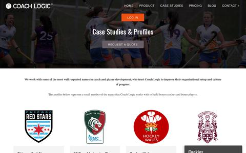 Screenshot of Case Studies Page coach-logic.com - Coach Logic Case Studies | Coach Logic - captured July 19, 2018