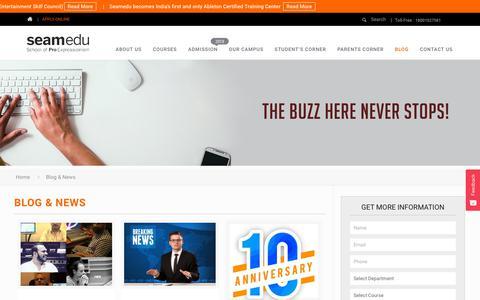 Screenshot of Blog seamedu.com - Blog & News - Seamedu - captured Nov. 12, 2018