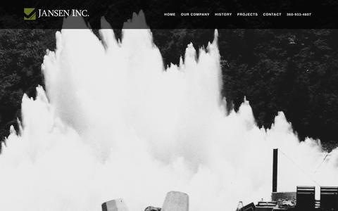 Screenshot of Home Page jansen-inc.com - Jansen, Inc. | Heavy civil general contractor - captured May 10, 2017