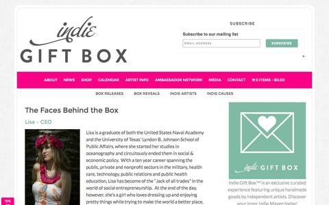 Screenshot of Team Page indiegiftbox.com - The Faces Behind the Box - captured Sept. 19, 2014