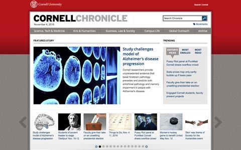 Cornell Chronicle |