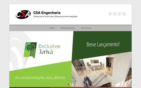 Screenshot of Home Page Menu Page c5a.com.br - C5A Engenharia | C5A Engenharia - captured Oct. 1, 2014