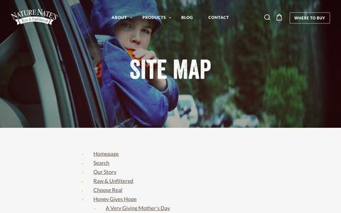 Screenshot of Site Map Page naturenates.com - Site Map – Nature Nate's - captured Nov. 5, 2017