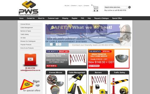 Screenshot of Login Page pwsonline.co.nz - Premier Workplace Solutions - captured Nov. 2, 2014