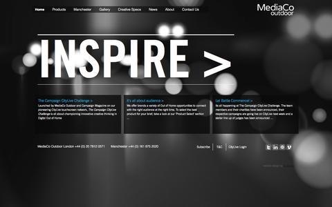 Screenshot of Home Page mediacooutdoor.co.uk - Home | MediaCo Outdoor - captured Sept. 30, 2014