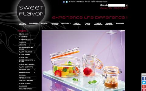 Screenshot of Home Page sweetflavorfl.com - Mini Dishes, Disposable, Plastic Tableware, Plastic Plates, Skewers, Catering supplies, Plastic Cups | Sweet Flavor - captured Oct. 3, 2014