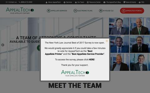 Screenshot of Team Page appealtech.com - Team - AppealTech - Your Appellate Partner - captured May 30, 2017